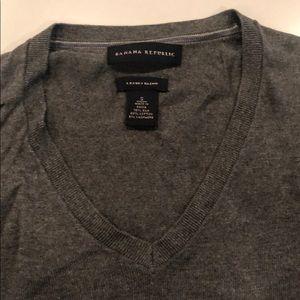 Luxury Blend BR Grey V-Neck Sweater